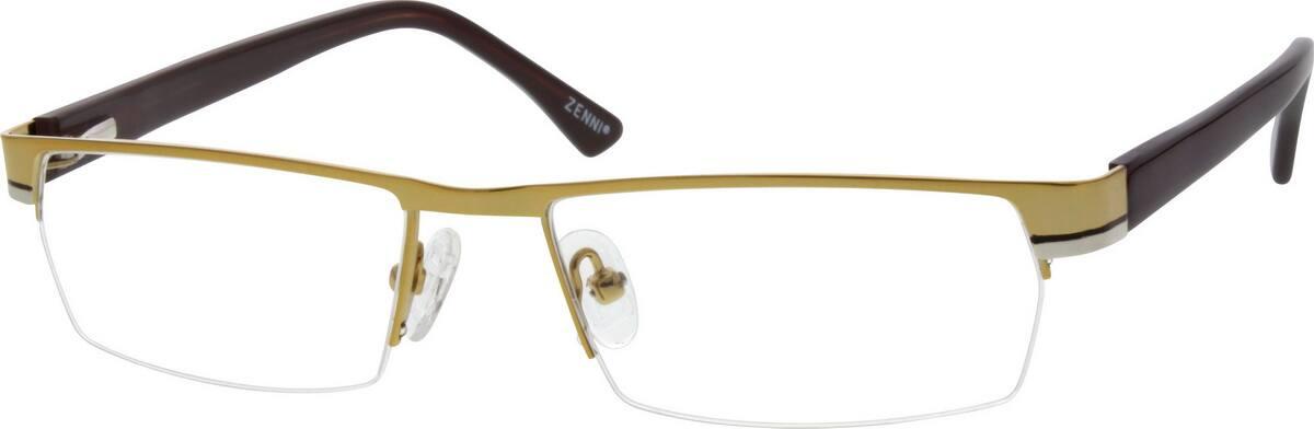 MenHalf RimMixed MaterialsEyeglasses #677714