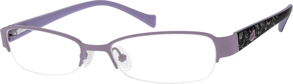 GirlHalf RimMixed MaterialsEyeglasses #678416