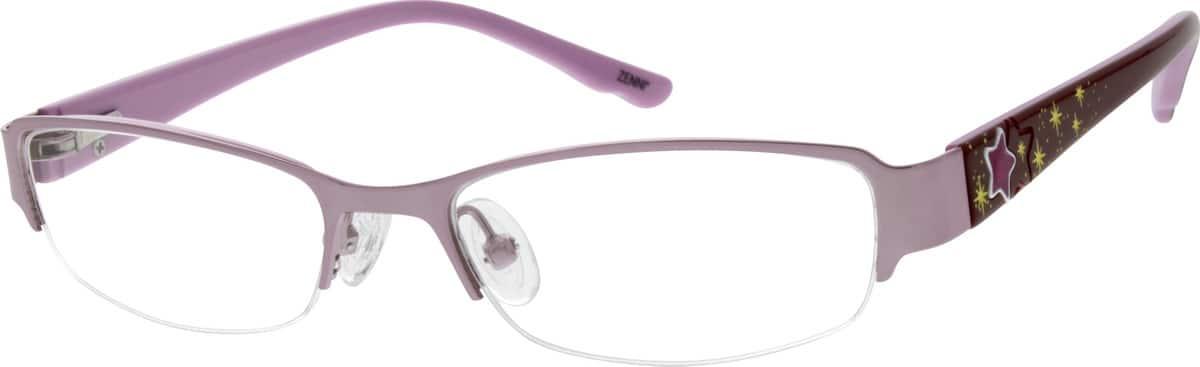 GirlHalf RimMixed MaterialsEyeglasses #678719