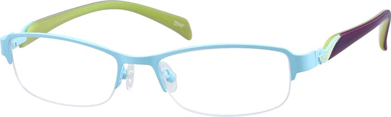 GirlHalf RimMixed MaterialsEyeglasses #679019