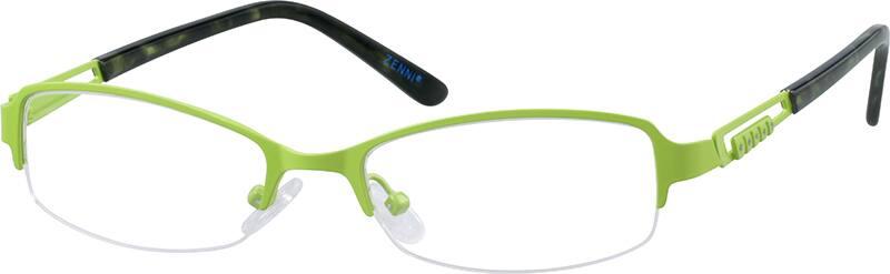 WomenHalf RimStainless SteelEyeglasses #680821