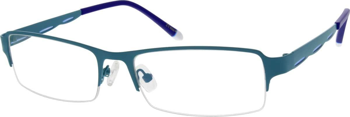 UnisexHalf RimStainless SteelEyeglasses #681130
