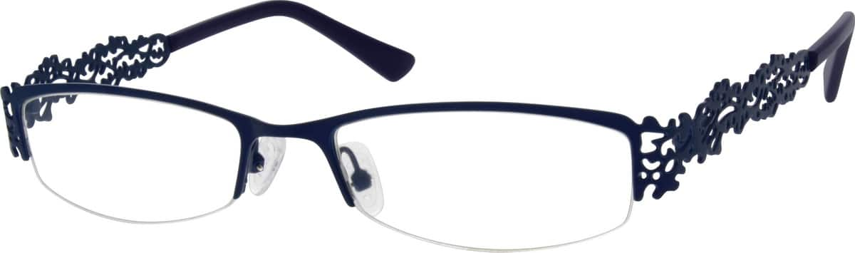 Women Half Rim Stainless Steel Eyeglasses #682022