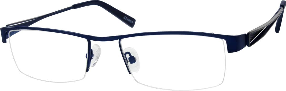 Men Half Rim Stainless Steel Eyeglasses #682216