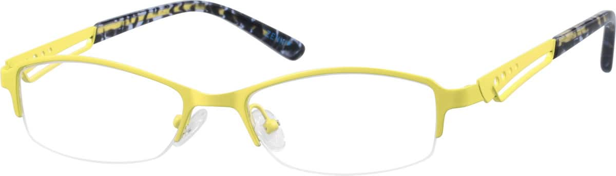 Women Half Rim Stainless Steel Eyeglasses #682622