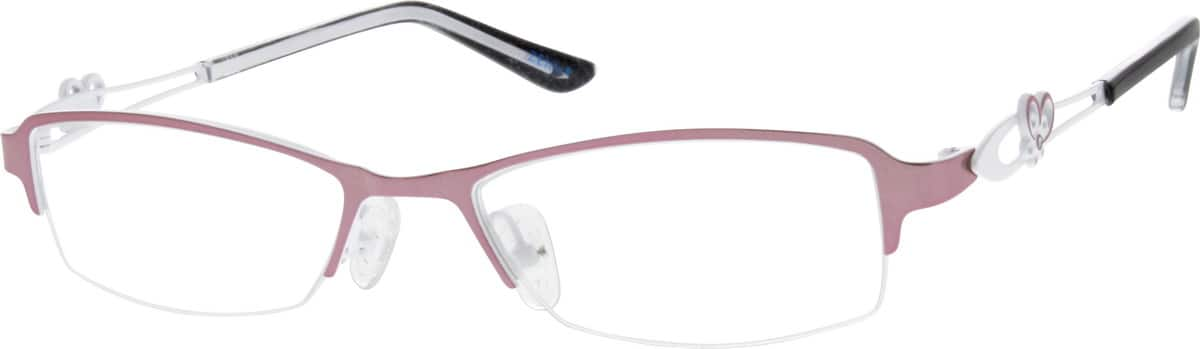 Women Half Rim Stainless Steel Eyeglasses #682930