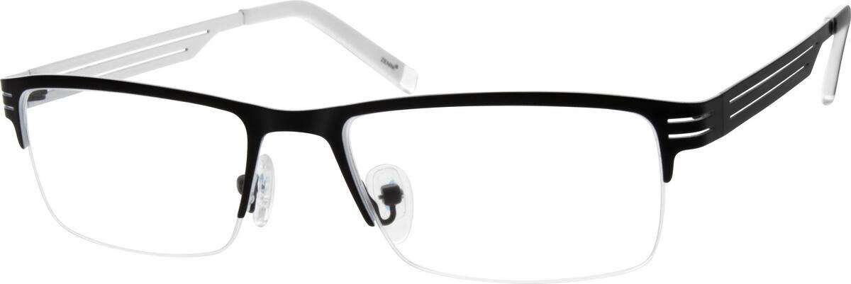 MenHalf RimStainless SteelEyeglasses #683322
