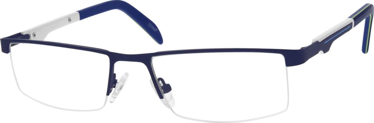 Men Half Rim Stainless Steel Eyeglasses #683712