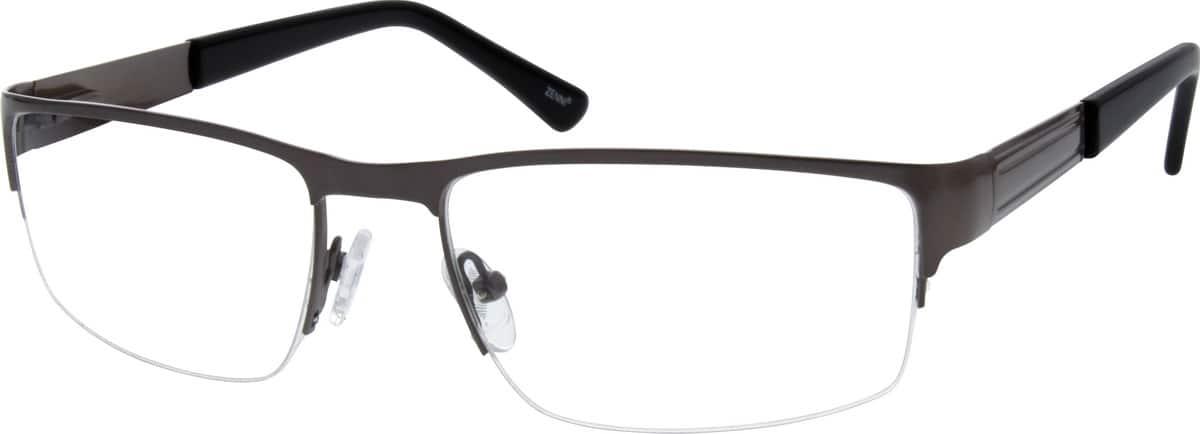 MenHalf RimStainless SteelEyeglasses #683915