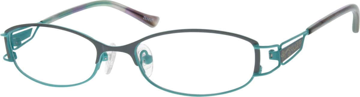 Women Full Rim Stainless Steel Eyeglasses #684117