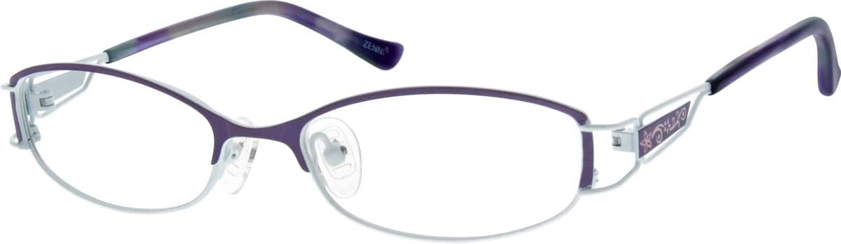 womens-stainless-steel-full-rim-floral-pattern-eyeglass-frame-684117