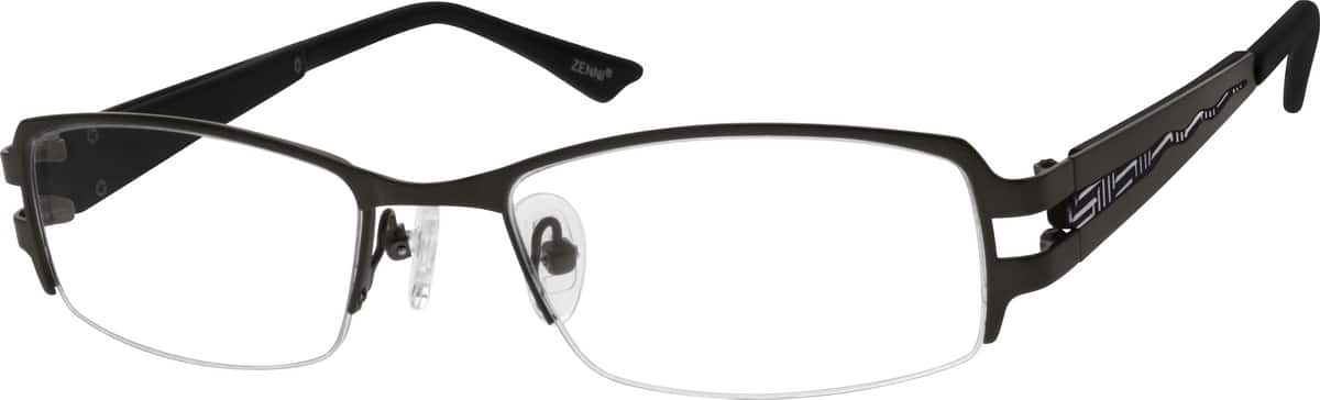 Men Half Rim Stainless Steel Eyeglasses #684312