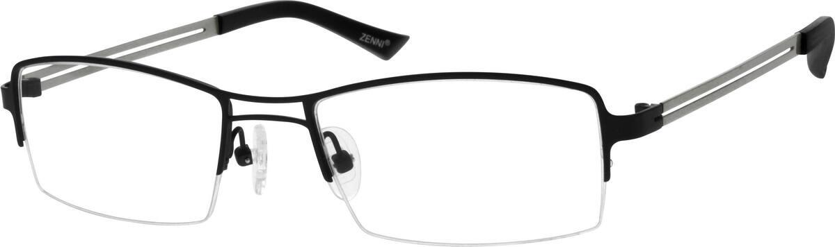 MenHalf RimStainless SteelEyeglasses #684415