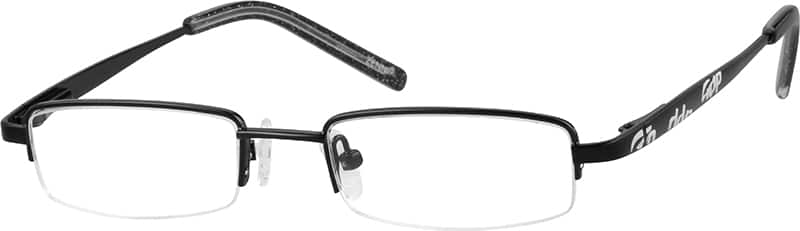 Boy Half Rim Stainless Steel Eyeglasses #684621