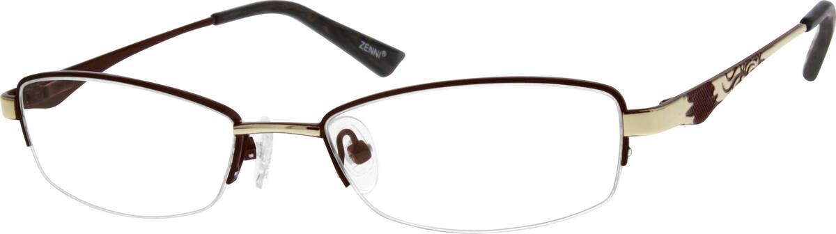 Women Half Rim Stainless Steel Eyeglasses #684818
