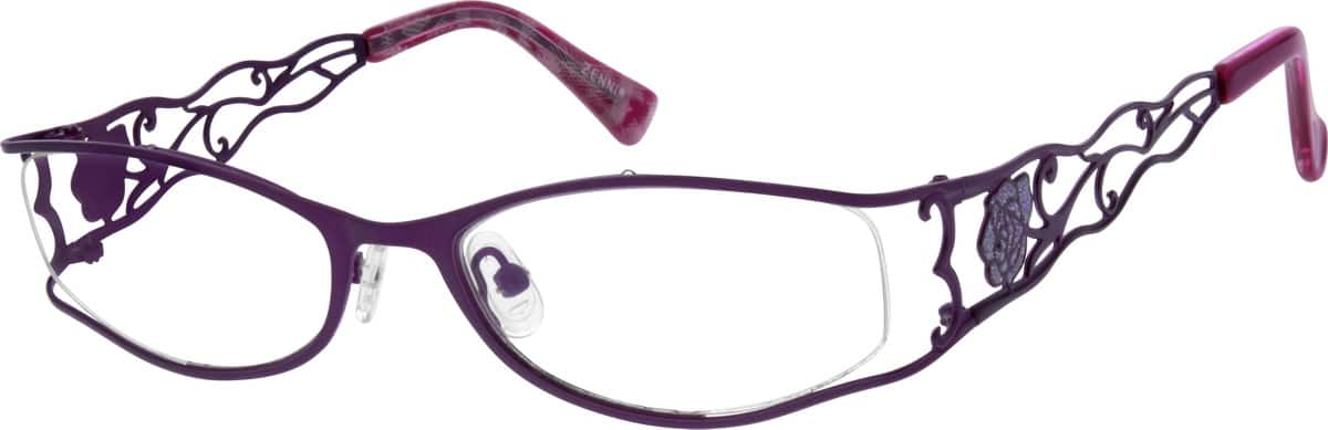 Women Full Rim Stainless Steel Eyeglasses #685321