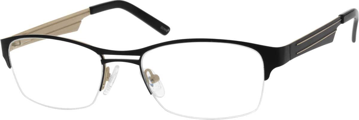 MenHalf RimStainless SteelEyeglasses #685416