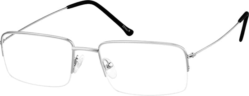 mens-stainless-steel-half-rim-rectangle-eyeglass-frame-685911