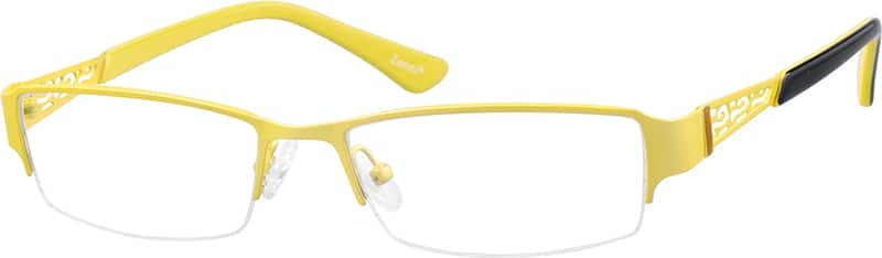 WomenHalf RimStainless SteelEyeglasses #686822