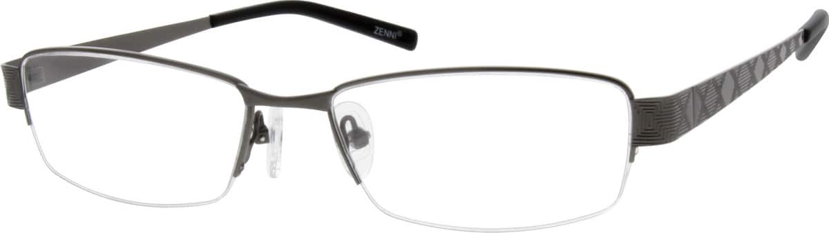Men Half Rim Stainless Steel Eyeglasses #687012