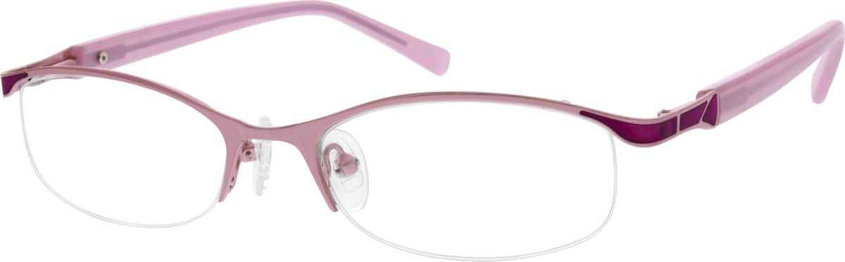 Women Half Rim Stainless Steel Eyeglasses #687114