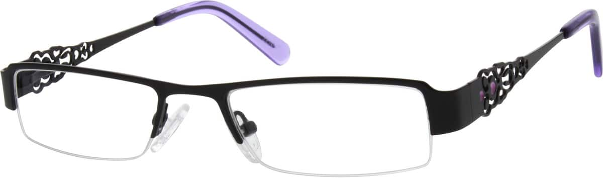 Women Half Rim Stainless Steel Eyeglasses #687221
