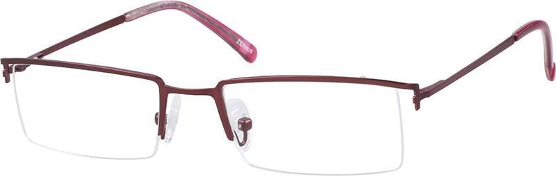 womens-stainless-steel-half-rim-eyeglass-frame-spring-hinges-687418