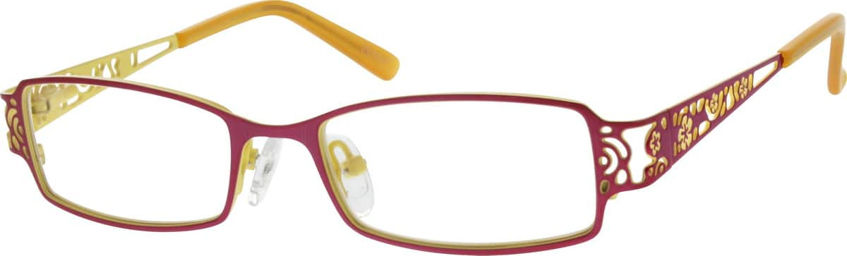 red yellow glasses