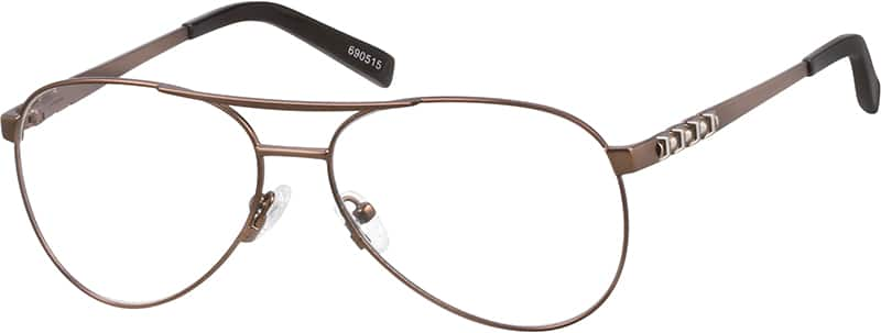 Men Full Rim Stainless Steel Eyeglasses #690515