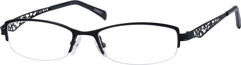 WomenHalf RimStainless SteelEyeglasses #690821