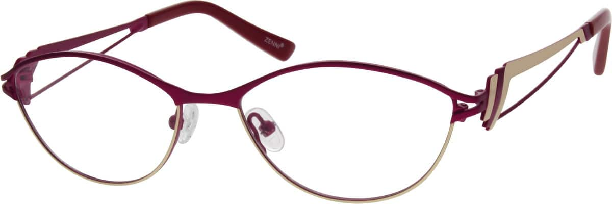 Women Full Rim Stainless Steel Eyeglasses #691317