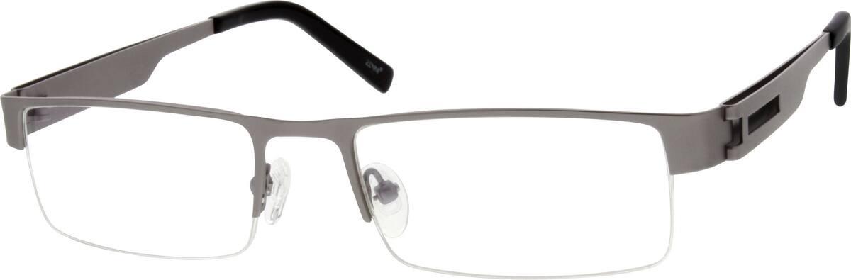 MenHalf RimStainless SteelEyeglasses #691621
