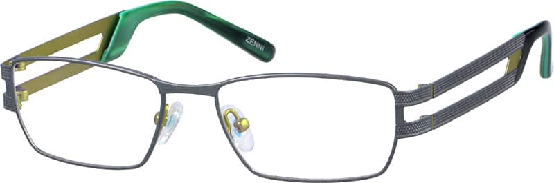 Men Full Rim Stainless Steel Eyeglasses #692312