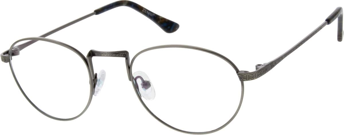 Unisex Full Rim Stainless Steel Eyeglasses #692412
