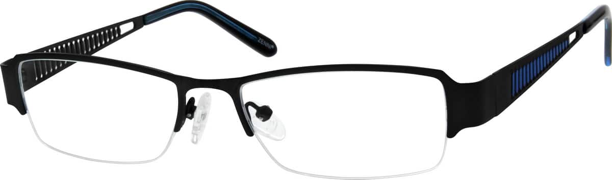Men Half Rim Stainless Steel Eyeglasses #692616