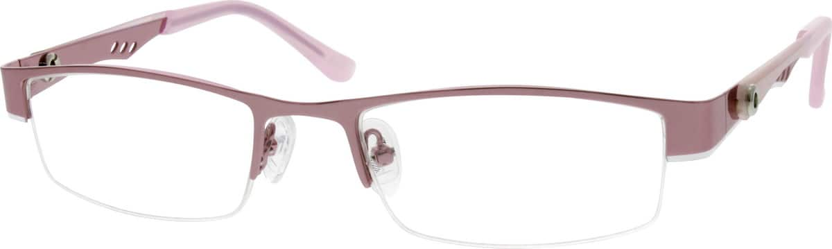WomenHalf RimStainless SteelEyeglasses #693019