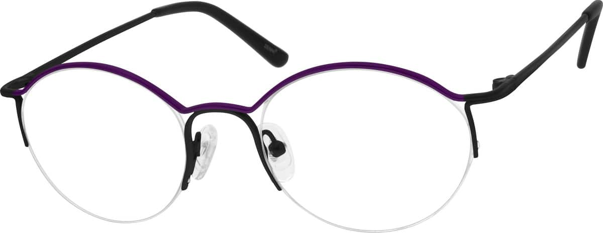 Women Half Rim Stainless Steel Eyeglasses #693214