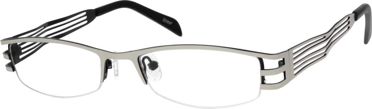 UnisexHalf RimStainless SteelEyeglasses #693516