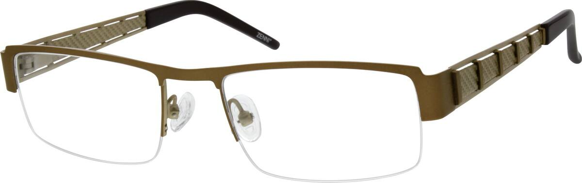 Spring Hinges Glasses Frame : Brown Stainless Steel Half-Rim Frame with Spring Hinges ...