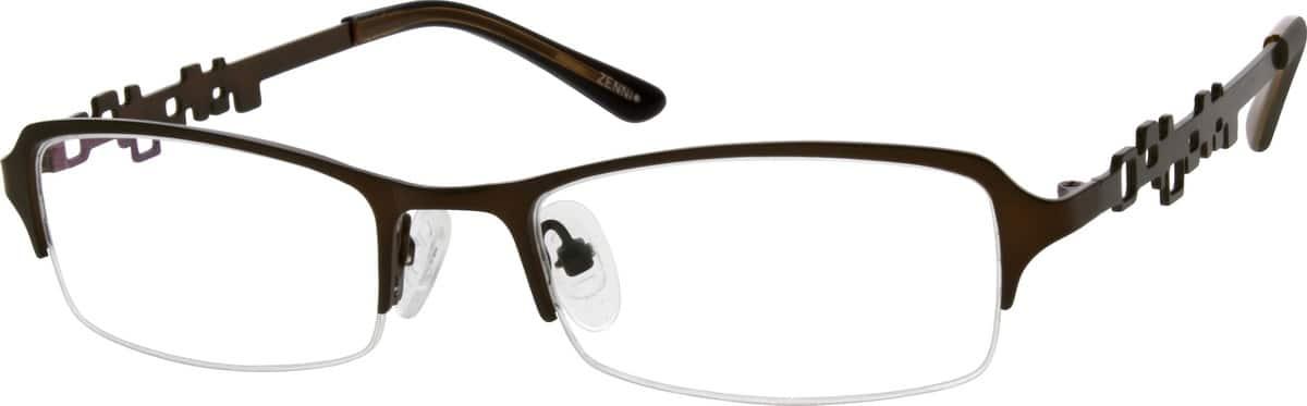 WomenHalf RimStainless SteelEyeglasses #694321