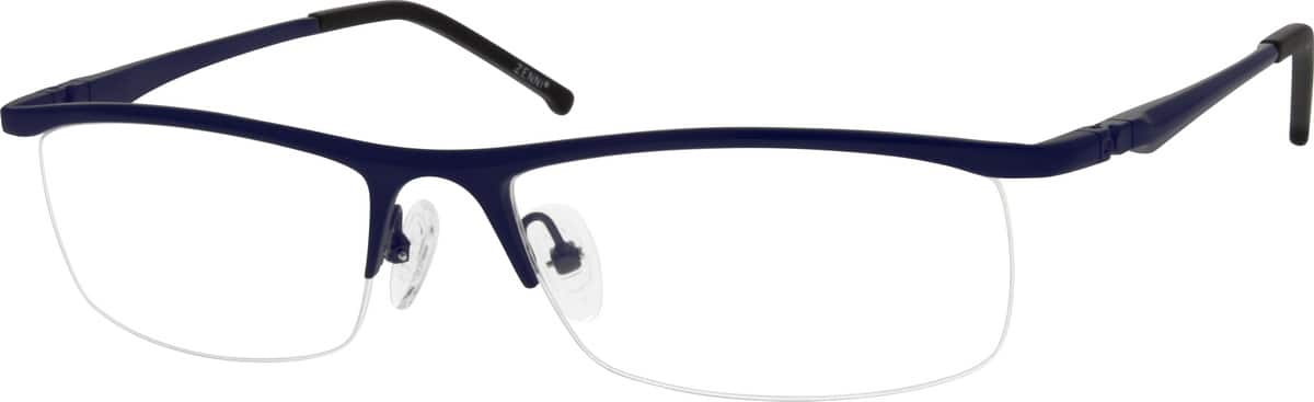 Men Half Rim Stainless Steel Eyeglasses #694416