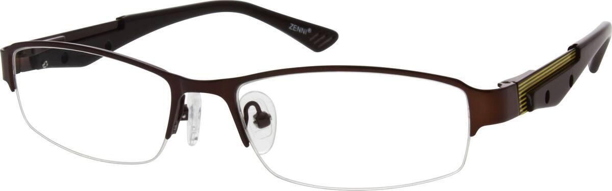 MenHalf RimStainless SteelEyeglasses #694515