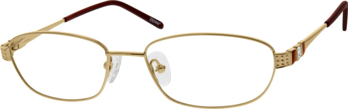 Women Full Rim Stainless Steel Eyeglasses #694617