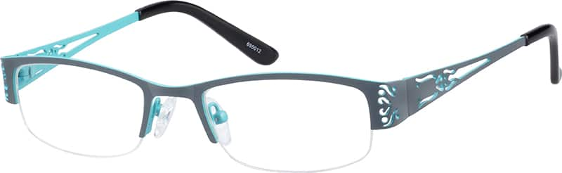 Women Half Rim Stainless Steel Eyeglasses #695012