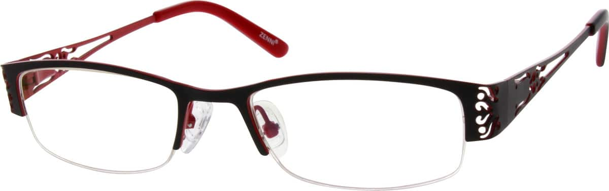 WomenHalf RimStainless SteelEyeglasses #695012