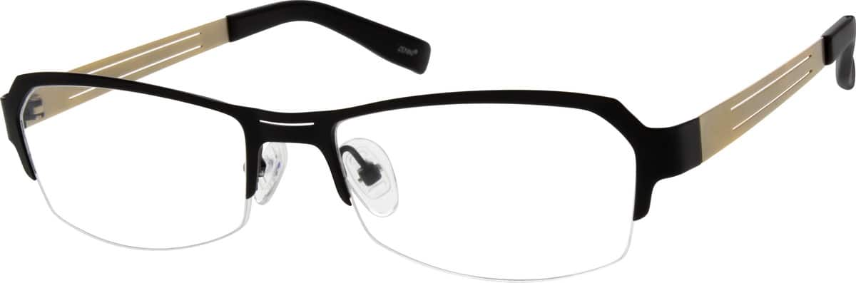 Women Half Rim Stainless Steel Eyeglasses #695321