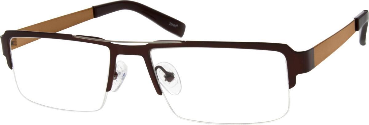 MenHalf RimStainless SteelEyeglasses #695521