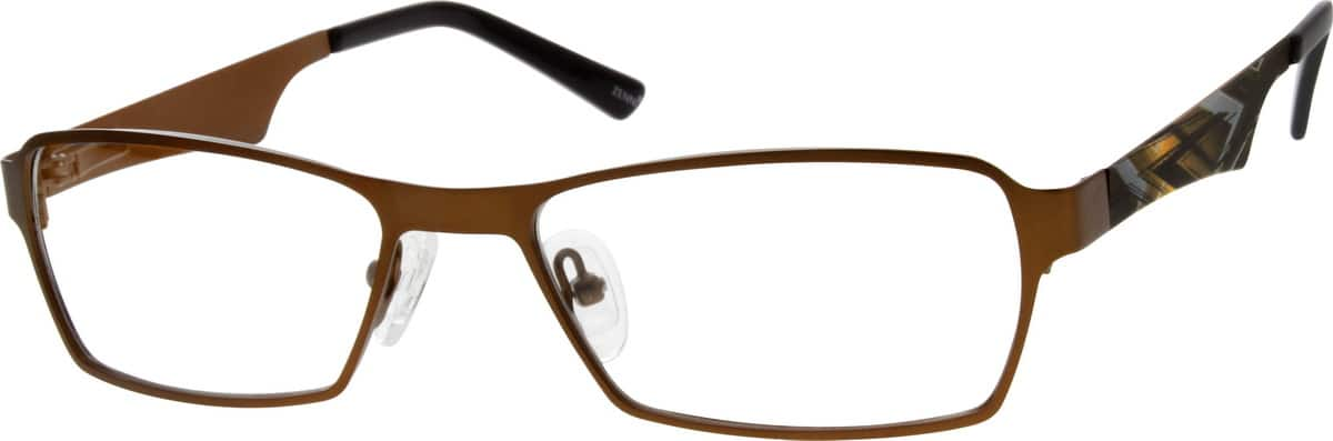 Unisex Full Rim Stainless Steel Eyeglasses #696011
