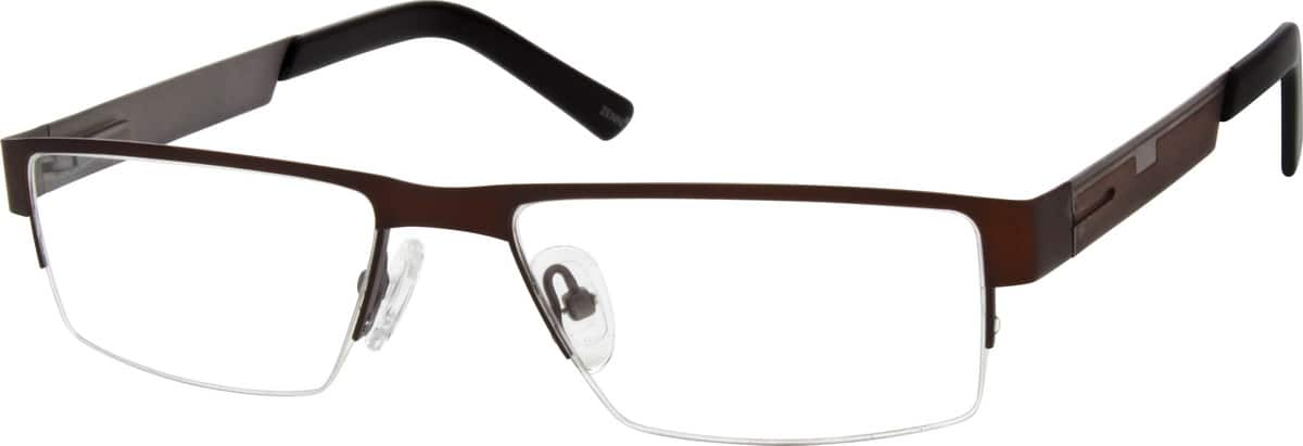 Men Half Rim Stainless Steel Eyeglasses #696215