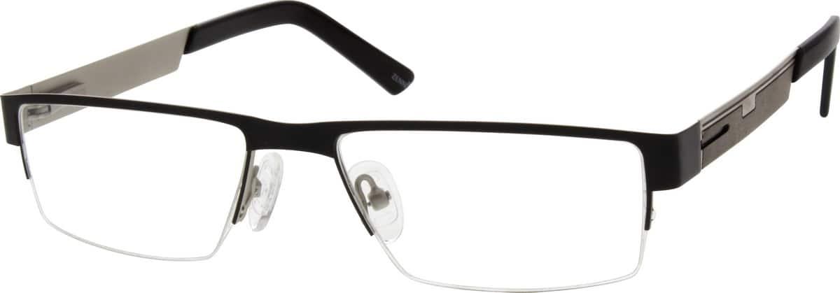 MenHalf RimStainless SteelEyeglasses #696215